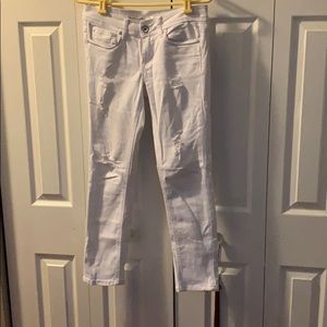 White skinny jeans in good condition